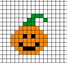 Halloween Beads, Easy Halloween Crafts, Halloween Crochet, Easy Perler Bead Patterns, Diy Perler Beads, Halloween Embroidery, Halloween Cross Stitches, Safety Pin Crafts, Pixel Art Grid