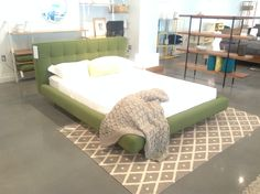 """The """"Winston"""" bed from Showroom 400 at Showroom, Bedding, Lounge, Couch, Fall, Furniture, Home Decor, Chair, Airport Lounge"""