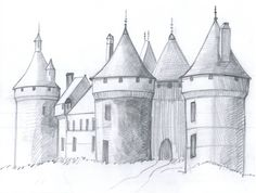 How to Draw a Medieval Castle in 6 Steps wk 6