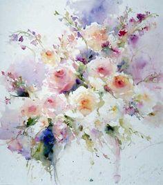 Janet Rogers Watercolor Florals♥♥