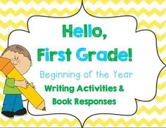 Back to school writing journal/prompts, beginning of the year book activities, and All About Me activities! $