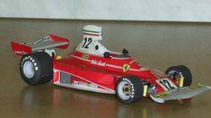 F1 Paper Model - 1975 Monaco GP Ferrari 312T Paper Car Free Template Download…