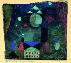 Paul Klee - stars above house 1916 Paul Klee Artwork, Hans Arp, Oil Painting Abstract, Watercolor Artists, Painting Art, Watercolor Painting, 2d Art, Art Sketchbook, Oeuvre D'art