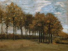 Vincent van Gogh, Autumn Landscape, 1885. Oil on canvas laid down on panel; 25-¼ x 34-¼ inches (64 x 87 cm). Fitzwilliam Museum, Cambridge