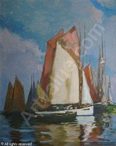 Sailboat Painting, Impressionist, Boats, Sailing, Art, Sailing Ships, Candle, Art Background, Boating