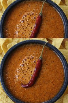 This spicy Chile de Arbol Salsa makes a tasty topping to tamales, tacos, and more. It adds a flavorful kick to any of your favorite Mexican foods. By Mama Maggie's Kitchen mexicanfood mamamaggieskitchen 113927065560652047 Authentic Mexican Recipes, Mexican Salsa Recipes, Mexican Appetizers, Mexican Dishes, Mexican Tacos, Authentic Mexican Hot Sauce Recipe, Mexican Restaurant Salsa, Salsa Canning Recipes, Hot Sauce Recipes