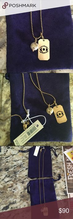 Tory burch necklace Tory burch necklace with pearl and removable evil eye charm NWT selling cheaper on Mercari Tory Burch Jewelry Necklaces