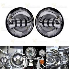 "37617 motorcycle-parts 2x 4-1/2"" Chrome LED Auxiliary Spot Fog Passing Light Lamp For Harley Motorcycle  BUY IT NOW ONLY  $76.99 2x 4-1/2"" Chrome LED Auxiliary Spot Fog Passing Light Lamp For Harley Motorcycle..."