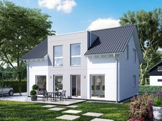 Aktionshaus mit Flachdachgaube und 143 qm Flat Roof, Modern Architecture, Shed, Outdoor Structures, Mansions, House Styles, Outdoor Decor, Design, Home Decor