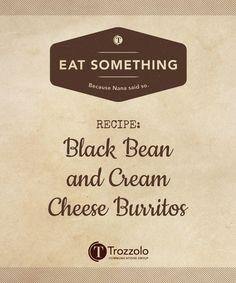 Black Bean and Cream Cheese Burritos