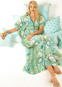Flora Bella Home pillows in Blue Topaz