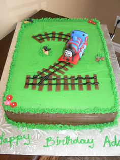 Thomas the Train with a number two