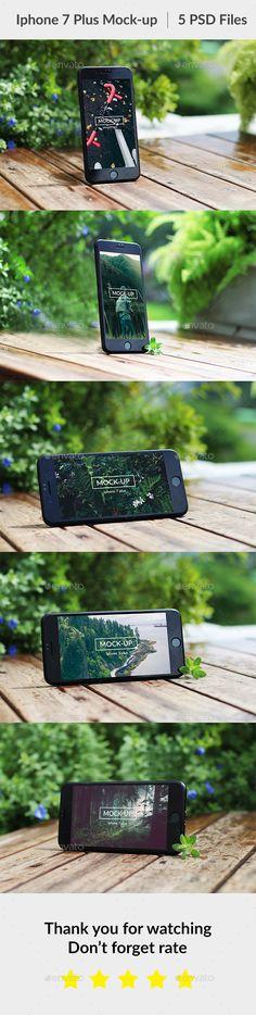 Phone 7 Plus #Mock-up - #Mobile Displays Download here: https://graphicriver.net/item/phone-7-plus-mockup/20331910?ref=alena994