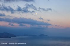Black sea coastal sunset with full moon in sky. See more stock images on www.khoroshkov.com by nickolay_khoroshkov, via Flickr