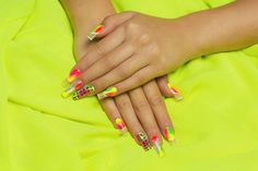 Nail Art For Beginners - Neon Nail Art