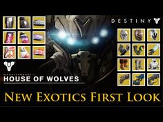 Destiny - All House of Wolves Expansion Exotics! First Look! - YouTube