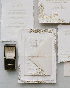 Ink Ivory Wedding Invitations, Addressing Wedding Invitations, Letterpress Wedding Invitations, Destination Wedding Invitations, Wedding Envelopes, Wedding Stationery, Ethereal Wedding, Torn Paper, Invitation Paper