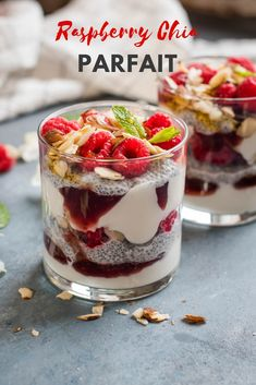 This Raspberry Chia Parfait is a fun and easy nutritious breakfast that is gluten free. Customize to your liking with a variety of fruit and nuts. Great for meal prep too! Clean Eating Breakfast, Nutritious Breakfast, Healthy Breakfast Recipes, Best Breakfast, Healthy Snacks, Breakfast Ideas, Healthy Eating, Healthy Recipes, Meat Recipes For Dinner