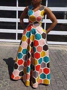 African fashion is available in a wide range of style and design. Whether it is men African fashion or women African fashion, you will notice. Long African Dresses, Latest African Fashion Dresses, African Print Dresses, African Print Fashion, Latest Fashion, Western Dresses, African Attire, High Waist, Dresses Online