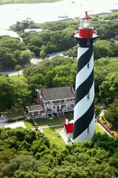 I miss driving by the St. Augustine lighthouse every day! #home #beach