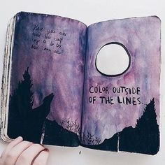 notebook watercolor painting
