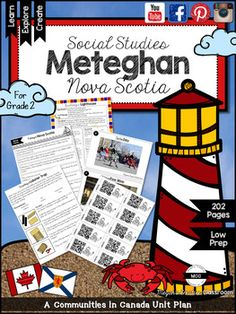 Communities in Canada: Meteghan Nova Scotia (Alberta Social Studies Curriculum) By Megan's Creative Classroom Buy this product as part of my Communities in Canada BUNDLE and save! Social Studies Curriculum, Social Studies Activities, Art Activities, Toddler Art Projects, Projects For Kids, 5th Grade Art, Grade 2, Art Education Projects, 5th Grades