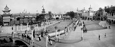 Luna Park, Pittsburgh, Pa. Photographed by the Detroit Publishing Co. on 8x10 glass plate negatives around 1905.