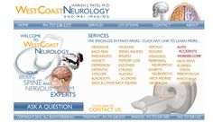 www.WestcoastNeuro.com    Westcoast Neurology wanted to put together an informational site for their users to show what they can help with and also inform their clients about the different neurological issues.