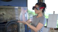 More companies starting on making virtual reality real. Here is the Meta Augmented Reality Glass - it allows virtual reality but brings it as augmented reality. Futuristic Technology, Cool Technology, Wearable Technology, Latest Technology, Wearable Computer, Medical Technology, Google Glass, Augmented Reality, Virtual Reality