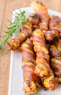 Cheesy Bacon Twists with Puff Pastry