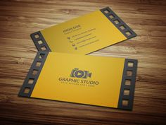 Filmography Business Card Template. on Behance