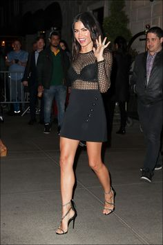 Jenna Dewan-Tatum from The Big Picture: Today's Hot Photos Fierce! The actress is seen looking hot in a David Koma lace bodysuit and Giuseppe Zanotti sandals in New York City. Sexy Legs And Heels, Sexy Feet, Connecticut, Sexy Outfits, Sexy Dresses, Talons Sexy, Jenna Dewan, Giuseppe Zanotti Heels, Great Legs