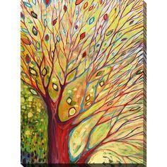 FramedArt.com Jennifer Lommers 'Rainbow Tree In Autumn' Giclee Print Wall Art