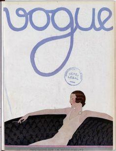Front cover of Vogue magazine – August French National Library (Public Domain) Vintage Vogue Covers, Bnf, Roaring Twenties, Fashion Project, Vogue Magazine, Vogue Paris, Art Deco, Retro, Beautiful