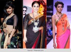 statement necklaces india with saree - Google Search