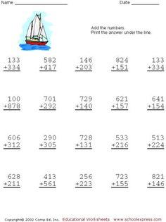 Pattern Worksheets For 4th Grade Word Worksheets For Kids  Go To Top Place Value Worksheets Nd Grade  Worksheet Mutations Practice Word with 3rd Grade Sentence Structure Worksheets Free Addition Worksheets  Digits No Carrying Comprehension Skills Worksheets Pdf