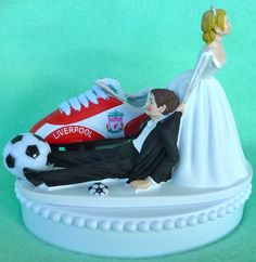 Wedding Cake Topper Liverpool F.C. Football Club Soccer by WedSet