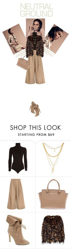 """""""Cool Neutrals"""" by marion-fashionista-diva-miller ❤ liked on Polyvore featuring Wolford, Ettika, Michael Kors, 424 Fifth, Dries Van Noten and neutrals"""