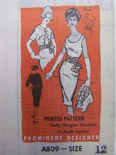 vtg 1950s Prominent Designer JACK SQUIRE by raggspatternstash
