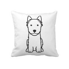 Silky Terrier Dog Cartoon Pillows
