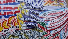 Motor Racing Sticker Decals worth over 200 pounds lot of 100 #stickerdecalsworldwide