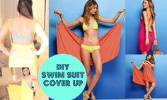 DIY Victorias Secret Swimsuit Cover-Up { No Sewing }. She teaches you how to do braided straps.