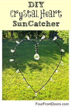 DIY Crystal Heart Sun Catcher