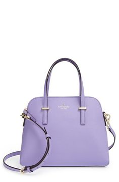 This lavender Kate Spade satchel is too cute!