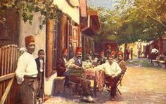 Antique Paint, Art Themes, The Past, Street View, Island, Fine Art, Gallery, Painting, Cer