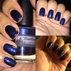 Vapid Lacquer's 'Headless Horseman' is a must have polish I wish I could have captured the color and the flakes better, but we make do with what we've got lol.