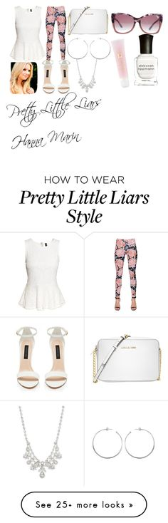 """Pretty Little Liars Hanna Marin"" by nutellaismybae-1 on Polyvore featuring H&M, Just Cavalli, Michael Kors, Givenchy, Tom Ford, Lancôme, Deborah Lippmann, cute, LoveIt and pll"