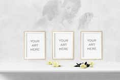 Wonderful Angel theme / Fresco mock up for displaying your art!Because of the size of the mock up is large you are able to integrate into your webpage or re-size and add to your store.Much place around frames to add any additional text!Your Download:PNG file, with transparency : 1500 px X 1000 pxPN