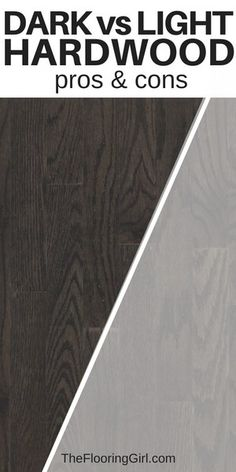 flooring trends Dark vs light hardwood flooring - pros and cons. Advantages of dark hardwood floors and benefits of light hardwood floors. Which is more stylish Which is easier to clean Which is better for resale value Grey Hardwood Floors, Living Room Hardwood Floors, Dark Hardwood, Diy Flooring, Laminate Flooring, Flooring Ideas, Kitchen Laminate, Flooring Sale, Plank Flooring