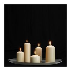 FENOMEN Unscented block candle, set of 5 IKEA Unscented. Same set but gives better perspective on size